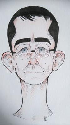 Caricature de Hervé par une élève