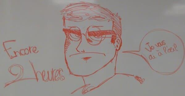 caricature de Hervé par un élève