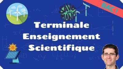 terminale enseignement scientifique
