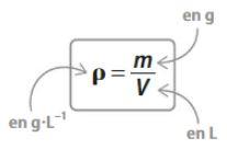 formule de la masse volumique