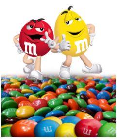 m&m bonbon coloré
